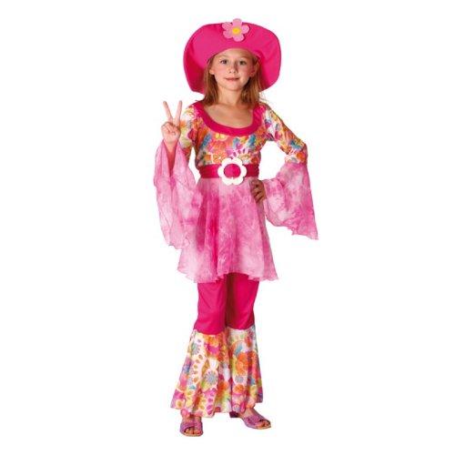 Prezer Hippi Hippie Diva Kostüm für Kinder Faschingskostüme 110/120