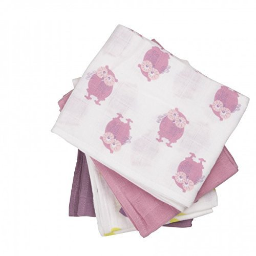 Fifi bébé Couches de tissu Bavoirs De Gaze Couche-culotte 4 Pièces 3822 in rose (rosier ancien 556) - rose (old rose 556), 70 cm x 70 cm