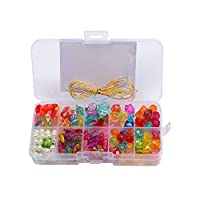 Sungpunet DIY Beads Set for Jewelry Making Assorted Shapes Color Crafting Beads Kit for Necklace Bracelets Making 1Set