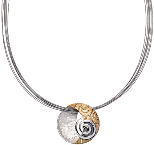 Perlkönig Kette Halskette | Damen Frauen | Silber Gold Schwarz Farben | Tricolor | Nickelfrei