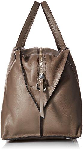 Ecco - Ecco Sculptured Handbag, Henkeltasche Donna Grigio (Moon Rock)