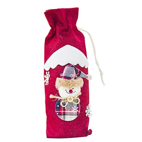 Xinlie Cubierta Botella Vino Navidad Creativo Fundas