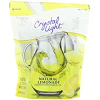 CRYSTAL LIGHT - NATURAL LEMONADE FLAVOUR DRINK MIX - MAKES 32 QUARTS - 244g POUCH AMERICAN