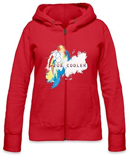 20% Cooler Rainbow Dash Womens Zipper Hoodie X-Large (20 Cooler Rainbow Dash)
