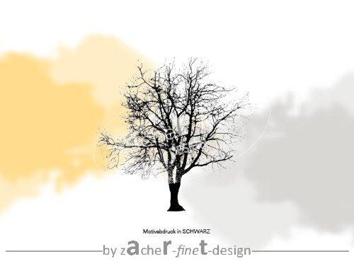 XL Artstempel mit Naturmotiv Baum Silhouette - Motivstempel - Bilderstempel