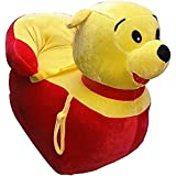 Shah Brothers Enterprises Toys Cute High Quality Soft Toy Chair | Seat For Baby Sitting | Soft Toy Chair For Kids Birthday | Love-able For Kids | Gift For Kids (MR.BALLU Chair, 43CM)