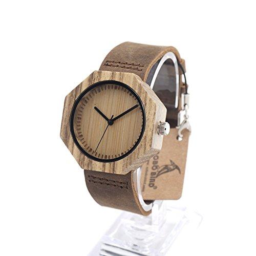 MSB Bambus Uhren / oktogonalen Holztisch leere Gesichter kahl Nadel / business casual / Quarzuhr (Leere Uhr)