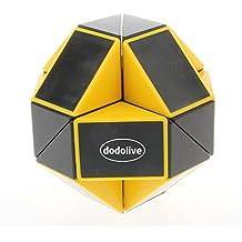 Dodolive Shengshou juguetes educativos 24 Piezas Magia Soberano Gran Variedad Cubo Magico,Negro con Amarillo