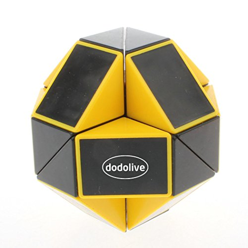 dodolive-puzzle-pieghevole-24-parti-serpente-colorato-pieghevole-cubo-magico-colore-nero-giallo
