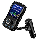 OMORC FM Transmitter, Bluetooth KFZ Wireless Radio Adapter, fm transmitter auto bluetooth mit 1.8