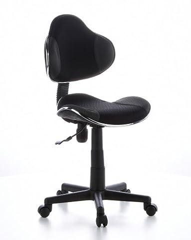 hjh OFFICE 634120 Kinderdrehstuhl Bürostuhl KIDDY GTI-2 schwarz grau, kindgerechte Ausführung für Schulanfänger, ergonomischer Kinderschreibtischstuhl, Kinderbürostuhl höhenverstellbar,