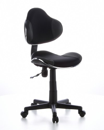 hjh OFFICE 634120 chaise de bureau enfant, chaise junior KIDDY GTI-2 gris/noir sans accoudoirs, hauteur réglable 40 - 55 cm, dossier ergonomique et assise galbée