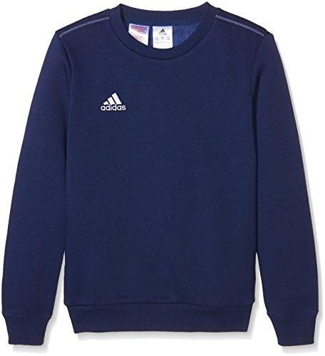 Adidas-Felpa bambino coref SWT to Y, Bambini, Sweatshirt Coref swt to y, blu scuro/bianco, 164