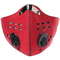 FaithYoo Outdoor Sports Mask Filter air inquinante per bicicletta per viaggi e altre attività all'aria aperta-universale rosso rosso