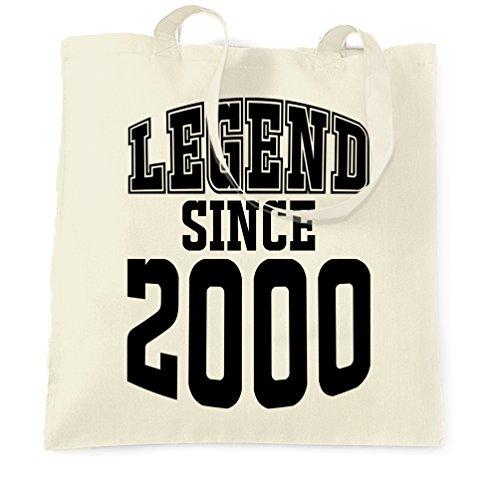 18 ° Compleanno Sacchetto Di Tote La leggenda Dal 2000 regalo Made In 18 Anni Natural