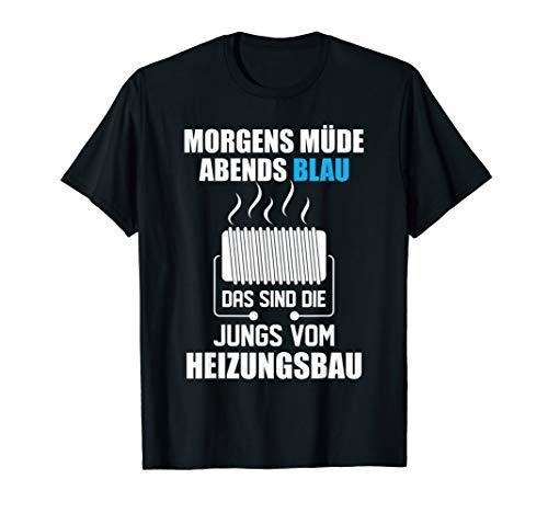 Herren T-Shirt Heizungsbauer - Heizungsbau Saufen Witz Spruch