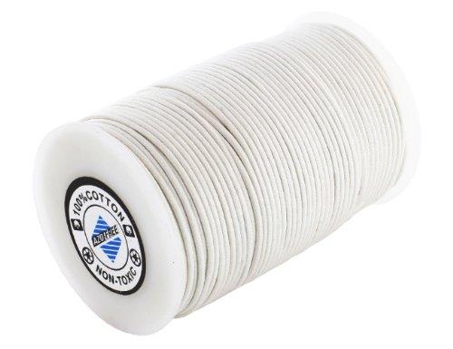AURORIS 100m Rolle Baumwollband rund - Durchmesser / Farbe wählbar - Variante: 1mm / weiß