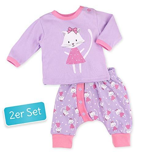 Baby Sweets Baby Set Hose + Shirt Mädchen Flieder | Motiv: Sweet Kitty | Babyset mit 2 Teilen für Neugeborene & Kleinkinder | Größe 6 Monate (68)