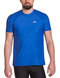 iQ UV 300 Loose Fi - Camiseta con manga corta de protección UV para hombre, color Azul, talla XXL