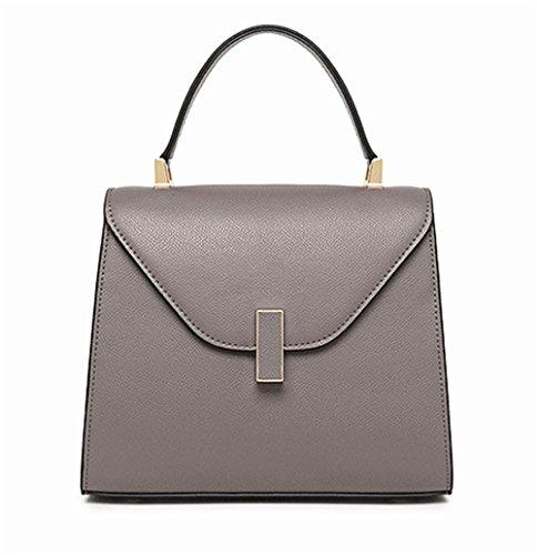 Xinmaoyuan Borse donna stile Palm Borsetta donna moda borsa di bloccaggio Grigio