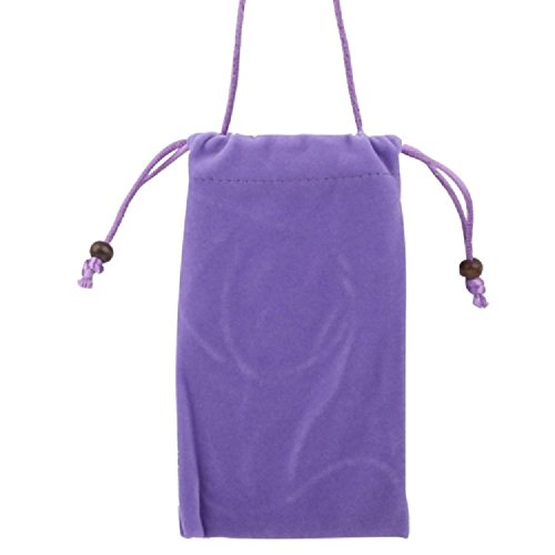 DFV mobile - Case Cover Soft Cloth Flannel Carry Bag with Chain and Loop Closure for =>      APPLE IPHONE 5C > Blue Violet