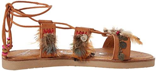 Coolway Damen Daikiri Sandalen mit Knöchelriemen Braun