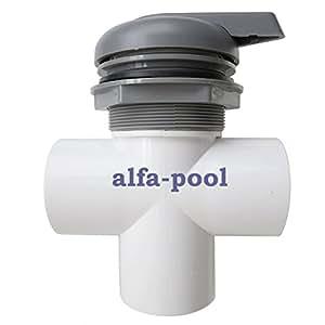 """Vanne 3 voies 2 """"en pVC vanne klebemuffen 60 mm pour spa, jacuzzi (44090)"""