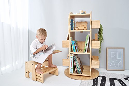 MesaSilla Kinder Bücherregal aus Massivholz | Bücherregal Kinder