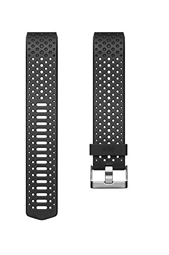 Fitbit Sport Band Charge 2 Sportarmband, Black, L