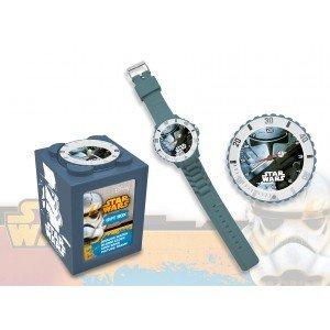 Star Wars Reloj analógico 4 en 1 Kids Euroswan SW14042