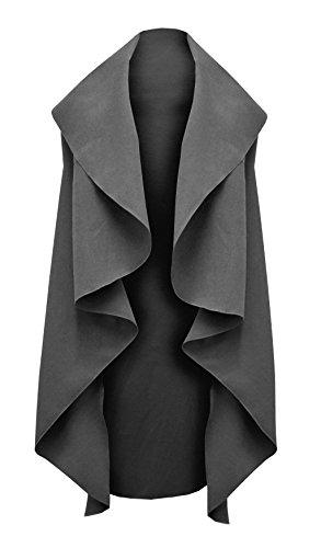 Amberclothing Damen Umhang Jacke Beige Beige One size - Mid Grey - Unbelted