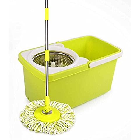 Fashion metal basket double drive hand pressure and a MOP bucket, stainless steel rod automatic dry mops