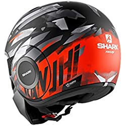 Shark Casque moto STREET DRAK KANHJI MAT KOS, Noir/Orange, M