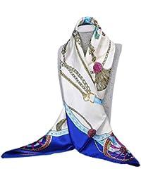 COMVIP Mujeres Señora Printed Vintage Pañuelos pelo pista Bufandas Wraps