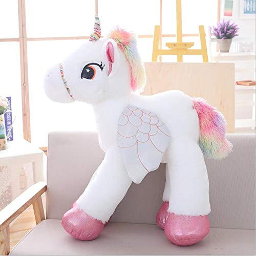 Juguete de peluche Creativo 50/60/90 cm Kawaii Unicornio Peluches Gigante Animal de peluche Caballo Juguetes para niños Muñeca suave Decoración para el hogar Amante Regalo de cumpleaños 90 cm Blanco