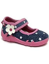 Jinwood - Zapatillas de estar por casa de Piel para niño Morado morado