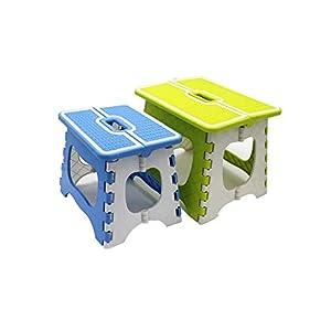 Sliveal Tritthocker Klappbar Kunststoff Stabil Tragbar rutschfest Faltbarer Tritthocker Stabil Bis 150 Kg Hocker…