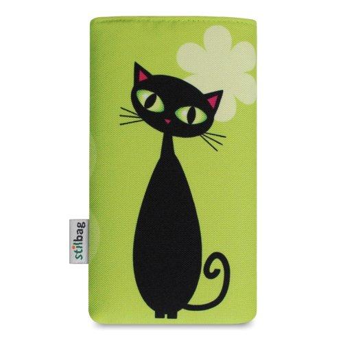 Stilbag Tasche 'MIKA' für Apple iPhone 3Gs - Design: Womans Wall Schwarze Katze