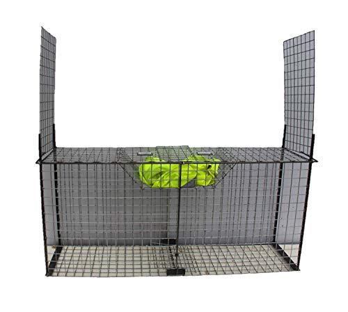 TRAPGALLIER piège Cage Capture Renards 150X70X40 2 entrées à appât
