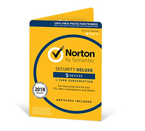 Norton Security Deluxe   5 Devices   1 Year   PC/Mac/Android  ...