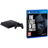PS4 - 500 GB F Chassis, Black + The Last of Us 2 - Playstation 4