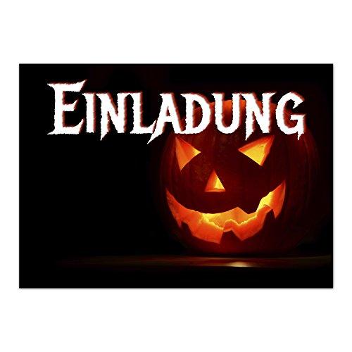 16 Halloween Einladungen - Leuchtender Kürbis - Tolle Einladungskarten für die Halloween-Party für Kinder und Erwachsene (Halloween-party-einladungen Erwachsene Für)