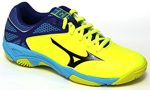 Mizuno EXCEED STAR Jr. CC - Scarpe Tennis Bambino - Kid's Tennis Shoes giallo fluo