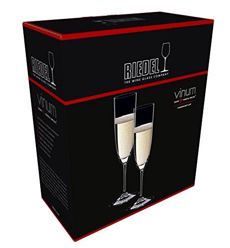 RIEDEL 6416/08 Vinum Champagner Flöte, 2-teiliges Champagnerflöten Set, Kristallglas - 3