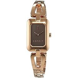 ESPRIT Women's Quartz Watch with Silver Steel Narelle Rose Gold Analogue Quartz Stainless Steel ES108512003
