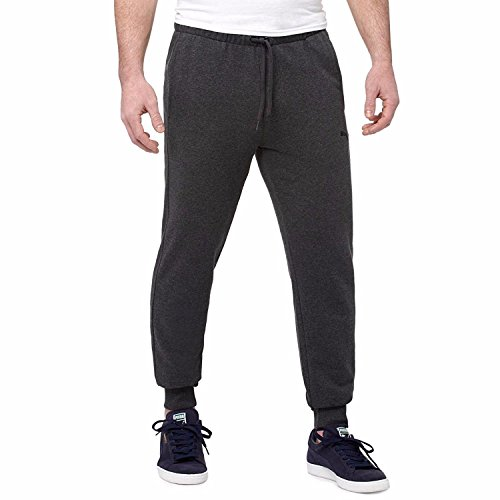 Puma Mens French Terry Pant (X-Large, Dark Charcoal Grey) -