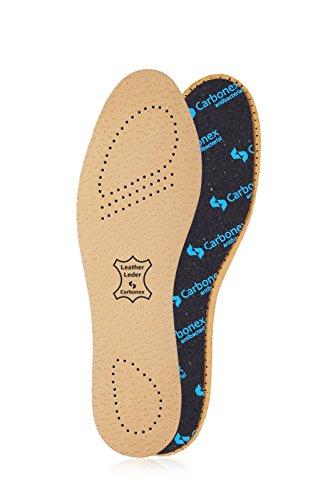 Kaps Plantillas Hombre y Mujer – Plantillas de Piel para Zapatos con Tecnología Carbonex Anti Bacterias y Anti Olor (41 EUR Mujer)