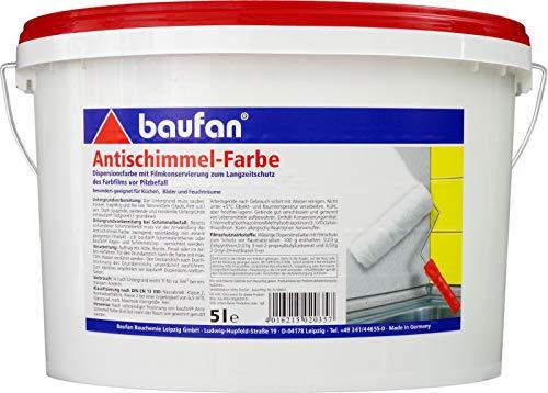 Baufan Antischimmelfarbe Anti-Schimmelfarbe 5l