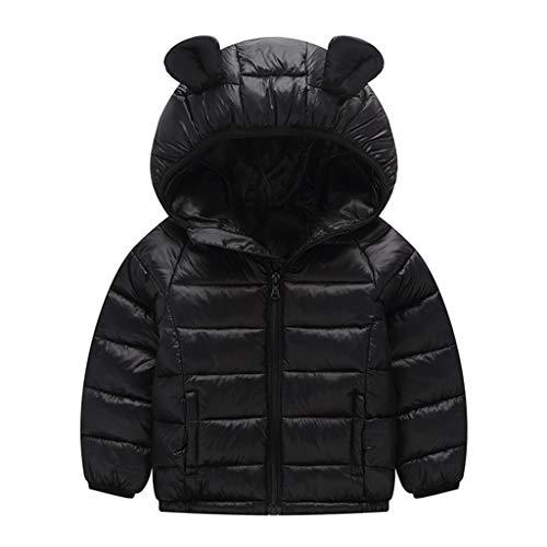 Kinder mit Kapuze Daunenjacke Jungen Mädchen Wintermantel Schneeanzug Kleinkind Winddichte Jacke Gepolsterte Oberbekleidung