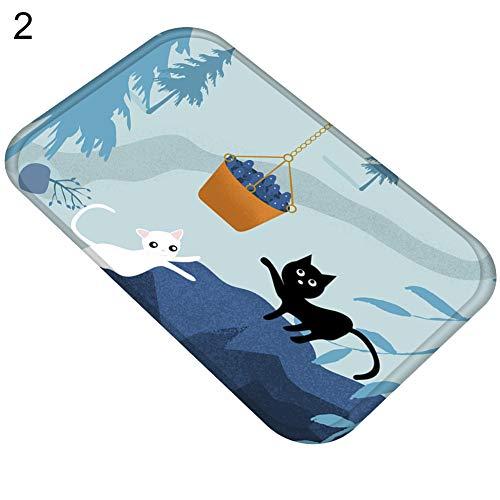 Bangle009 Fußmatte mit Katzenmotiv, Rutschfest, für Wohnzimmer, Küche, Badezimmer, Heimdekoration